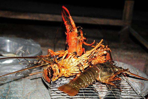 Đặc sản tôm hùm đảo Bình Ba