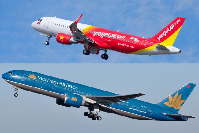 So sánh Vietnam Airlines và Vietjet Air
