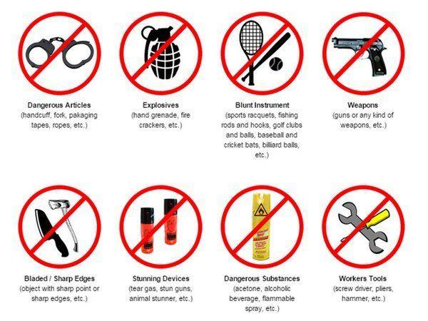 Không được phép mang chất cấm, chất cháy nổ lên máy bay